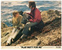 5k073 PLAY MISTY FOR ME 8x10 mini LC #1 '71 c/u of Clint Eastwood & Donna Mills on beach!