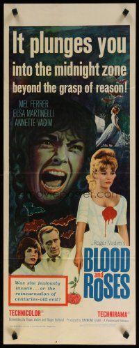 5m478 BLOOD  ROSES insert 61 Et mourir de plaisir Roger Vadim sexiest vampire Annette Vadim