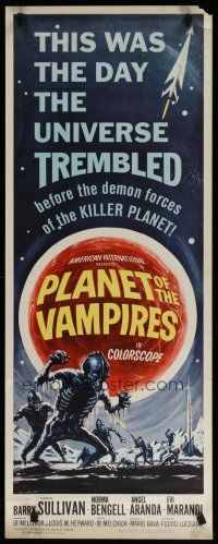 5m698 PLANET OF THE VAMPIRES insert 65 Mario Bava beings of the future great Reynold Brown art