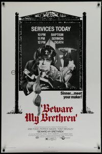 5y101 BEWARE MY BRETHREN 1sh 72 Ann Todd Patrick Magee beauty beware a date with death