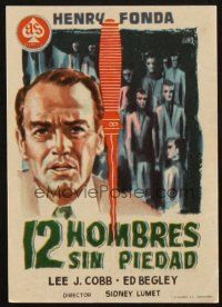5z002 12 ANGRY MEN Spanish herald '58 Henry Fonda, courtroom classic, different Jano art!