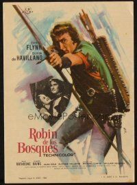 5z007 ADVENTURES OF ROBIN HOOD Spanish herald R64 MCP art of Errol Flynn as with bow & arrow!