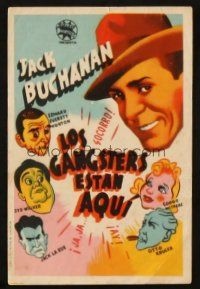 5z013 AMAZING MR FORREST Spanish herald '44 Jack Buchanan, cool different cartoon art!