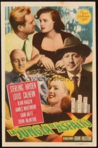 5z021 ASPHALT JUNGLE Spanish herald '51 Marilyn Monroe, Sterling Hayden, John Huston, different!
