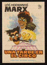 5z024 AT THE CIRCUS Spanish herald R60s different MCP art of Marx Brothers, Groucho, Chico & Harpo!