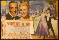 5z029 BARKLEYS OF BROADWAY Spanish herald '50 great different art of Fred Astaire & Ginger Rogers!