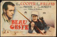 5z032 BEAU GESTE Spanish herald '42 William Wellman, Legionnaire Gary Cooper, different!