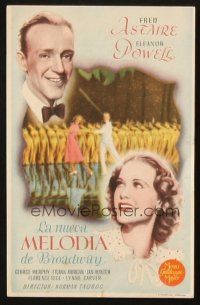 5z043 BROADWAY MELODY OF 1940 Spanish herald '40 different image of Fred Astaire & Eleanor Powell!