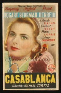 5z047 CASABLANCA Spanish herald '46 different image of Ingrid Bergman, Spanish first release!
