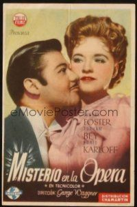 5z052 CLIMAX Spanish herald '48 different romantic close up of Turhan Bey & Susanna Foster!