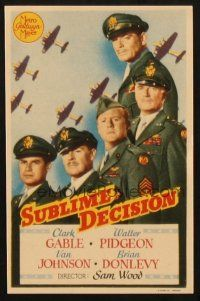 5z055 COMMAND DECISION Spanish herald '48 Clark Gable, Walter Pidgeon, Van Johnson, Brian Donlevy