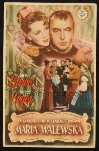 5z056 CONQUEST Spanish herald '44 Greta Garbo as Walewska, Charles Boyer as Napoleon, Jano art!