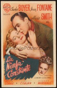 5z058 CONSTANT NYMPH Spanish herald '43 Joan Fontaine, Charles Boyer, Alexis Smith, different!
