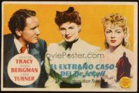 5z075 DR. JEKYLL & MR. HYDE Spanish herald '48 Spencer Tracy, Ingrid Bergman & Lana Turner!