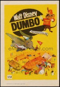 5z079 DUMBO Spanish herald R66 colorful art from Walt Disney circus elephant classic!