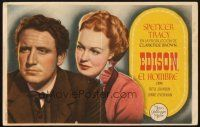5z080 EDISON THE MAN Spanish herald R40s different image of Spencer Tracy as Thomas the inventor!