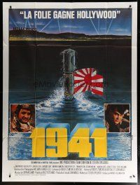 6k538 1941 style B French 1p '79 completely different art of Japanese submarine in Hollywood!