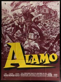 6k549 ALAMO French 1p R60s Soubie art of John Wayne & Richard Widmark in the War of Independence!