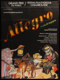 6k553 ALLEGRO NON TROPPO French 1p '77 Bruno Bozzetto, great wacky sexy cartoon artwork!