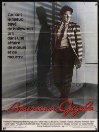 6k554 AMERICAN GIGOLO French 1p '80 handsomest male prostitute Richard Gere is framed for murder!
