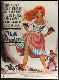 6k556 AMOROUS ADVENTURES OF MOLL FLANDERS style B French 1p '65 art of sexy Kim Novak by Landi!