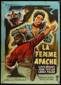 6k557 APACHE WOMAN French 1p '55 different art of bad girl Joan Taylor by Jean Mascii!