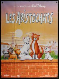 6k558 ARISTOCATS French 1p R94 Walt Disney feline jazz musical cartoon, great different image!