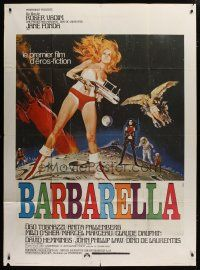 6k562 BARBARELLA French 1p '68 sexiest art of Jane Fonda by Robert McGinnis, Roger Vadim!