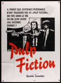 6k872 PULP FICTION French 1p '94 Tarantino, should Travolta & Jackson give 'em a second chance?