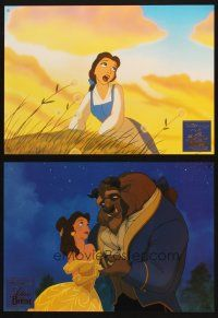 6k089 BEAUTY & THE BEAST 4 German LCs '92 Walt Disney cartoon classic, great images!