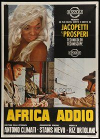 6k183 ADIOS AFRICA Italian 1p '66 Africa Addio, every scene looks you straight in the eye & spits!