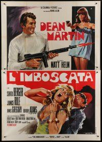 6k125 AMBUSHERS Italian 2p '68 different art of Dean Martin as Matt Helm by Enrico De Seta!