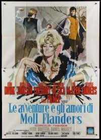 6k126 AMOROUS ADVENTURES OF MOLL FLANDERS Italian 2p '65 different Symeoni art of sexy Kim Novak!