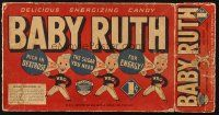 6k037 BABY RUTH candy bar box '20s rich in dextrose, the most important energy known to science!