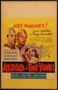 6k263 ABROAD WITH 2 YANKS WC '44 Marines William Bendix & Dennis O'Keefe lust after Helen Walker!