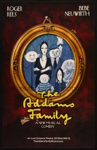 6k266 ADDAMS FAMILY stage play WC '10 cool framed artwork portrait of the creepy family!