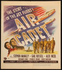 6k268 AIR CADET WC '51 the story of U.S. Air Force jet pilots, cool airplane art!