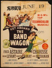 6k280 BAND WAGON WC '53 great image of Fred Astaire & sexy Cyd Charisse showing her legs!