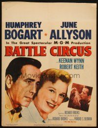 6k282 BATTLE CIRCUS WC '53 great close up of Humphrey Bogart & pretty June Allyson!