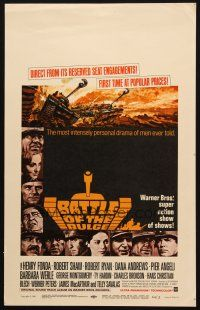 6k283 BATTLE OF THE BULGE WC '66 Henry Fonda, Robert Shaw, cool Jack Thurston tank art!