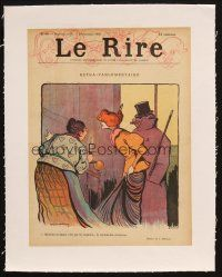 7a017 LE RIRE linen French magazine cover November 16, 1895 great artwork!