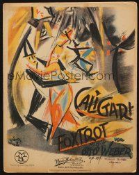 7c288 CABINET OF DR CALIGARI Austrian sheet music '20 cool different art by Marcel Vertes!