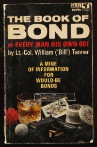 7d214 BOOK OF BOND English Pan paperback book '66 a mine of information for would-be James Bonds!