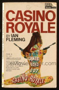 7d158 CASINO ROYALE 26th printing English Pan paperback book '67 1st Bond book to be a movie!