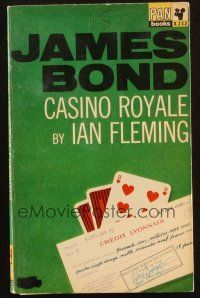 7d155 CASINO ROYALE 15th printing English Pan paperback book '53 1st James Bond book to be a movie!