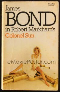 7d165 COLONEL SUN 1st Triad Panther edition English paperback book '77 1st James Bond by Markham!