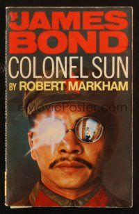 7d164 COLONEL SUN 1st Pan edition English paperback book '70 1st James Bond written after Fleming!