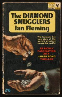 7d213 DIAMOND SMUGGLERS English paperback book '65 Ian Fleming story as fascinating as James Bond!