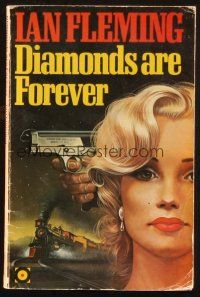 7d206 DIAMONDS ARE FOREVER 1st Hutchinson edition English paperback book '77 James Bond by Fleming!
