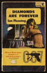 7d202 DIAMONDS ARE FOREVER 11th printing English Pan paperback book '63 Bond novel by Ian Fleming!